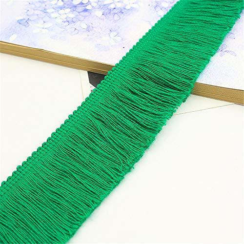 Jilibaba Borla de flecos de costura de encaje largo para cortina de ropa de boda bordado accesorios decoración DIY 5M B