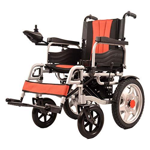 GJX Elektrische rolstoelroller, koolstofstaal, voor ouderwetse rolstoel, ongeschikte oude, elektrische vierwielige lichte vouwbare rolstoel