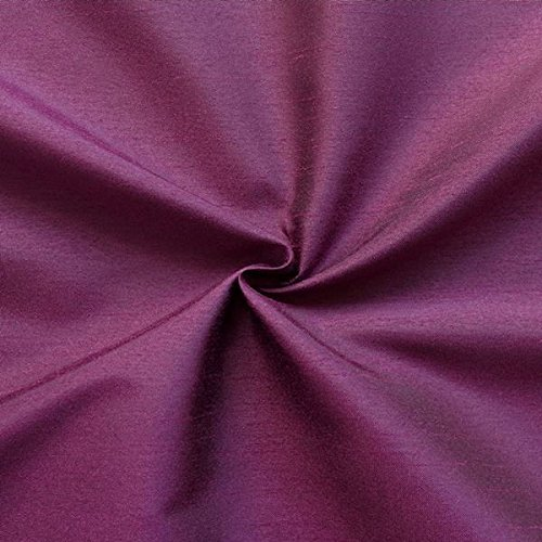 Unbekannt Kleidertaft Dekotaft Dupionseide Optik Meterware Purpur-Violett