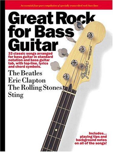 Great Rock For Bass Guitar: Songbook, Grifftabelle für Gitarre