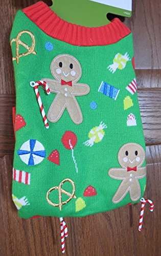 Target Pet Ugly Christmas Sweater Gingerbread Man Candycane M