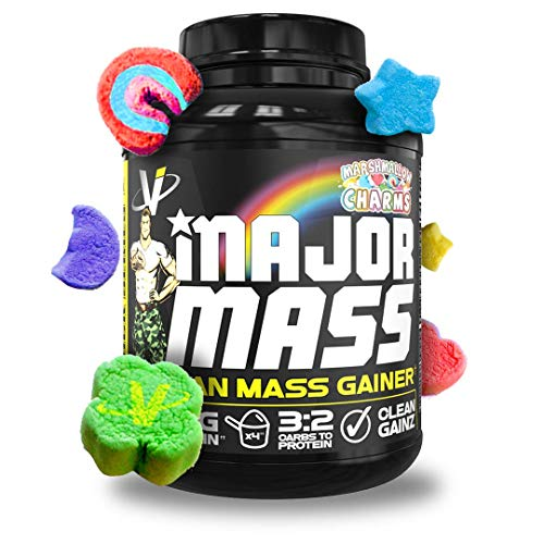 VMI Sports | Major Mass Lean Mass Gainer | Mass Gainer Protein Powder for Muscle Gain | Weight Gainer Protein Powder for Men | Weight Gainer for Women (Marshmallow Charms, 4 Pounds)