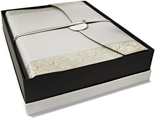 LEATHERKIND Angelus Recycled Leather Photo Album, Large Gold - Handmade in Italy
