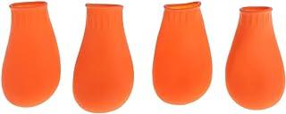 GuangHuan Botas impermeables de goma para la lluvia, antideslizantes, para exteriores, color caramelo