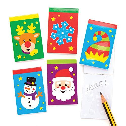 Baker Ross AX593 Mini Blocs De Notas De Navidad - Paquete De...