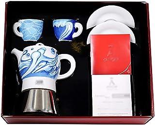 DYB Cafetera Italiana Cerámica Moka Pot Home Moka Coffee Coffee Coffee Pot Office Hacer el Aparato de café (Color : B)