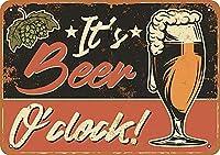 It's ビール時金属錫サイン 12 × 8 インチホームキッチン寝室バーサイン装飾ハロウィン感謝祭ギフト メタルプレートブリキ 看板 2枚セットアンティークレトロ