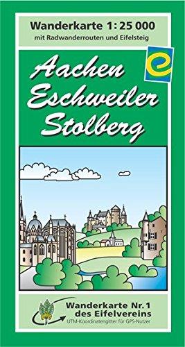 Aachen, Eschweiler, Stolberg: Wanderkarte Nr. 1 des Eifelvereins