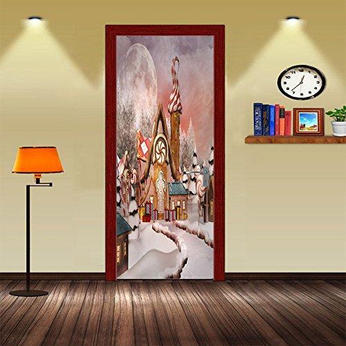 Deurposters, 3D-stickers, voor decoratieve deuren, zelfklevend, voor huis en slaapkamer