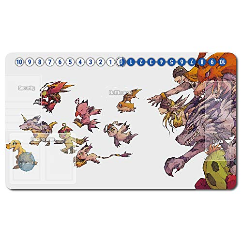 487456de - Digimon Spielematten , Digimon playmat Brettspiel Digimon Mouse pad MTG Playmat Tischmatte Spiele Größe 60X35 cm Mousepad Spielmatte für TCG CCG Yugioh Digimon Magic The Gathering