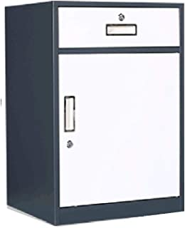 Armoire de bureau basse armoire à tiroir en métal avec armoire à rangement verrouillable (Color : Gray, Size : 1.1mm)