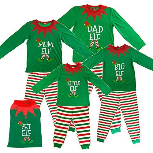 Made By Elves Dad Elf Elf Pyjamas Mens Christmas PJs Adult Large