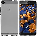 mumbi Hülle kompatibel mit Huawei P8 Handy Case Handyhülle, transparent schwarz