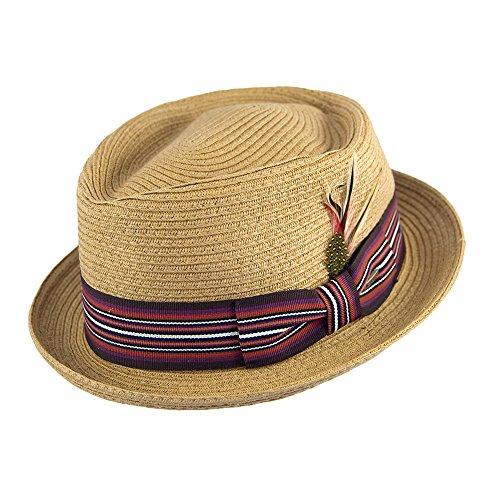 Chapeau Pork Pie Diamond blé Scala Hats - X-Large