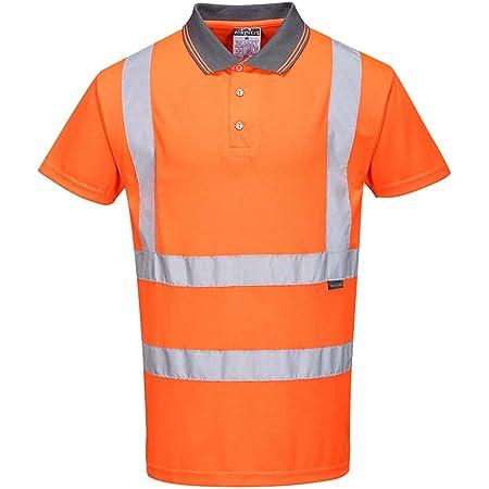 Portwest RT22 - Hi-Vis S/S Polo, color naranja, talla 5XL