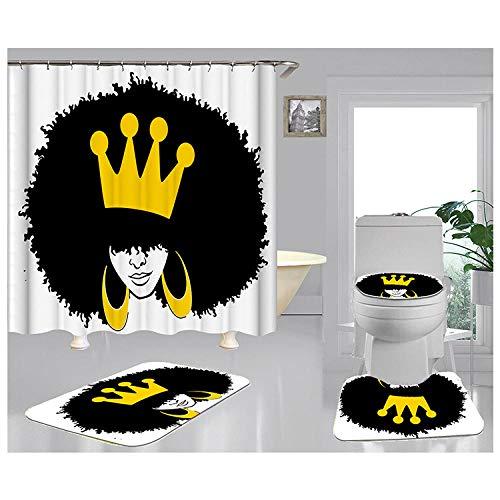 Cortina de ducha, moderna y minimalista cortina de baño, cortina de división para cuarto de ducha, cortina gruesa impermeable y resistente al moho para cuarto de baño-28