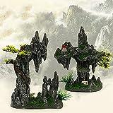 PPuujia Decoración de pecera de roca artificial para pecera, paisajismo, decoración de acuario, accesorios decorativos de resina, rocas, decoración Aquascape paisaje (color: 807 Rockery)