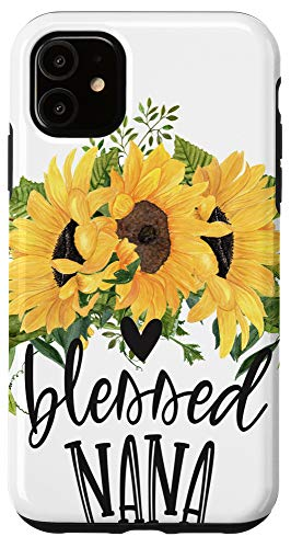 grandma phone cases iPhone 11 Blessed Nana Phone Case Floral Sunflower Gifts for Grandma Case