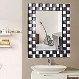 Tangkula 23.5' x 31.5' Wall Mirror Beveled Wood Frame Mirror Rectangle Bathroom Home Mirror