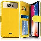 Karylax - Funda tipo cartera para Sony Xperia X Performance, color amarillo