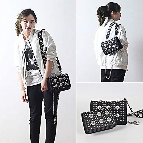 新しいバッグファッションハンドバッグトレンドリベットスモールスクエアバッグチェーンショルダーバッグ