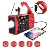 [2020 Premium Version] Emergency-Solar-Hand-Crank-Radio,Puiuisoul Portable NOAA...