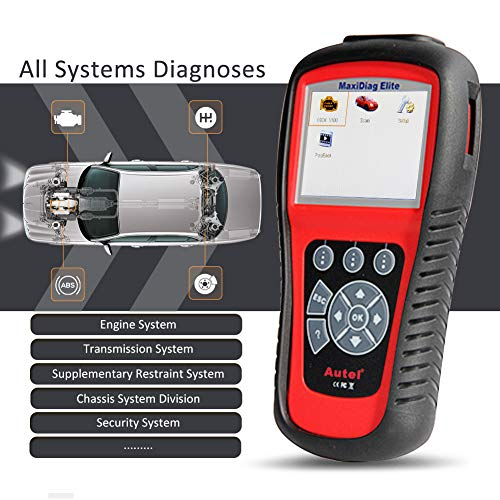 Autel Systeme Maxidiag Elite MD802 OBD/Eobd Scan Tool Vollständige System, Unterstüzt Live-Daten, Epb Automatischer Diagnosescanner für Motor, Abs, Airbag, Automatikgetriebe, Ölservice-Reset