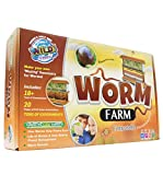 WILD! Science Worm Farm - Ages 6+ - In Home Learning Science Kit - Easy Assembly - Worm Farm, Colored Sand, Accessories and Education & Instruction Booklet