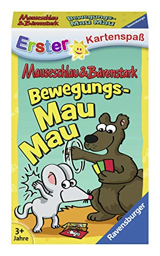Ravensburger Kinderkartenspiele 20347 - Mauseschlau&Bärenstark Bewegungs-Mau Mau