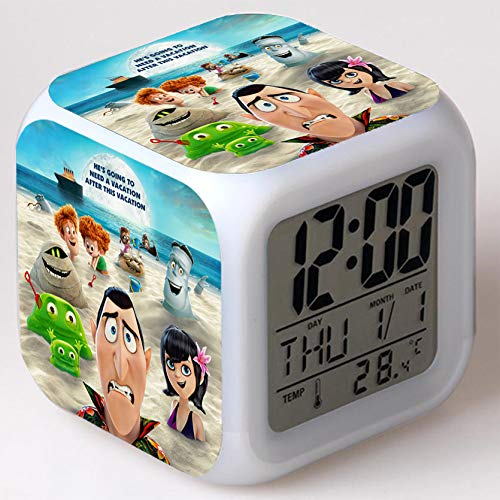 Wizard Hostel Alarm Clocks Kids LED Clock Cartoon Night Light Flash 7 Color Changing Digital Clock Electronic Desk Clock,Style 41, Birthday