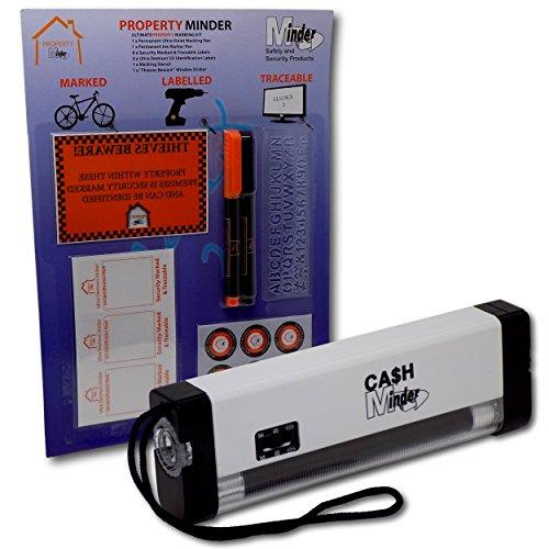 Minder Ultimate Property Marking Kit Ultra Violet Lamp Torch UV Ink Pen...