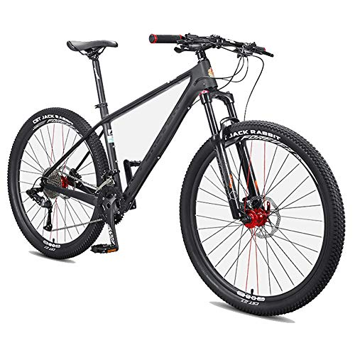 NENGGE Uomo Mountain Biciclette, 27.5 Pollici Fibra di Carbonio Mountain Bike, Hardtail Freni a Disco Grande Pneumatico Mountain Bike,36 Speed