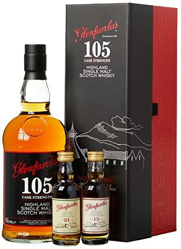 Glenfarclas 105 Cask Strength Tasting Pack Whisky mit Geschenkverpackung (1 x 0.8 l)