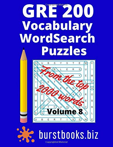 GRE 200 Vocabulary Word Search Puzzles: Best gre vocabul