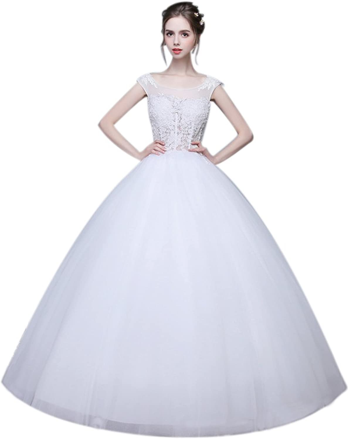 Shanghai Story Double Shoulder Hollow Out Bridal Gown Wedding Dresses