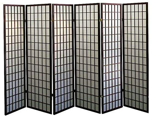 3, 4, 6, 5, 8 Panels Room Divider Screen Partition Shoji Style 6 ft Tall (Espresso, 6 Panel)