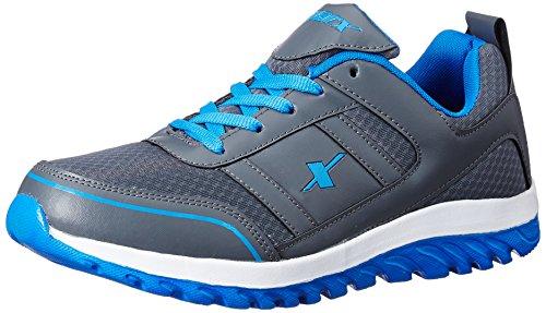 Sparx Men's Dark Grey and Blue Running Shoes - 8 UK/India(42 EU)(SM-502)