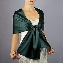 Stole donna satin scialli vestito da sposa nuziale poncho verde