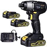 Atornillador de Impacto, TECCPO Brushless 220Nm Atornillador Bateria 18V, 2...
