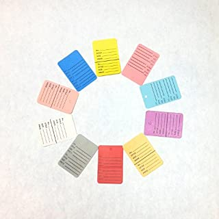 """1000 Pcs 1-1/4""""×1-7/8"""" Mix 10 Colors Two-part Perforated Price Coupon Tag Clothing Price Labels Paper Tag Mark Sticker"""