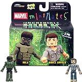 Marvel MiniMates The Incredible Hulk Movie 2-Pack Hulk and Bruce Banner