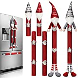 6 Pieces Christmas Refrigerator Handle Covers Tome Gnome Refrigerator Handle Covers Winter Oven Fridge Door Handles Protector Kitchen Appliance Handle Covers for Holiday New Year Microwave Dishwasher