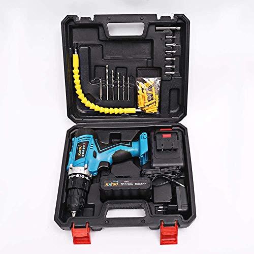 Katsu, accuboormachine, 18 V, met schacht en accessoires en 2 accus van 1,5 Ah