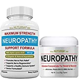 Neuropathy Support Pack... Neuropathy Support Supplement with 600 mg Alpha Lipoic Acid PLUS Neuropathy Nerve Pain Relief Cream - Maximum Strength Relief for Feet, Hands, Legs, Toes Get the Total Neuro