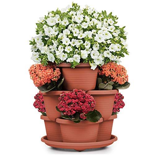 Stackable Planter Vertical Garden 9 Spots for Vegetables, Flowers,...