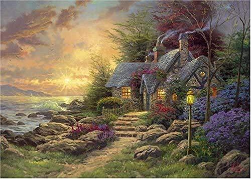 WXLSL Puzzles Rompecabezas Thomas Kinkade Seaside