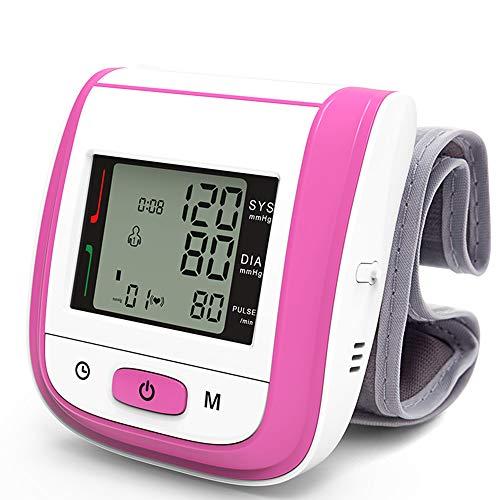 Wysgvazgv Tensiómetro de Muñeca, Electrónico Tensiómetro Digital de Muñeca Totalmente Automático Alta Precisión Presión Arterial y Detección de Pulso Pantalla LCD Memoria (2 * 99)