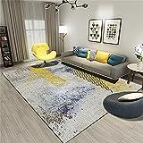 Alfombra Dormitorio Alfombra Salon Alfombra teñida Gris Amarilla Habitación para niños Accesorios DE MOJILES Accesorios DE Seguridad Decoraciones para Habitaciones 160x230cm