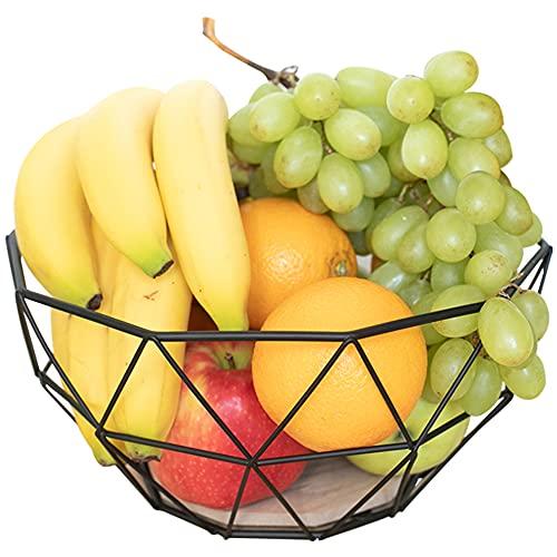 Chefarone - Cesto de frutas y vegetales de para más espacio en la encimera - Multiuso - Objeto decorativo para el mostrador de la cocina (26 x 26 x 12 cm)
