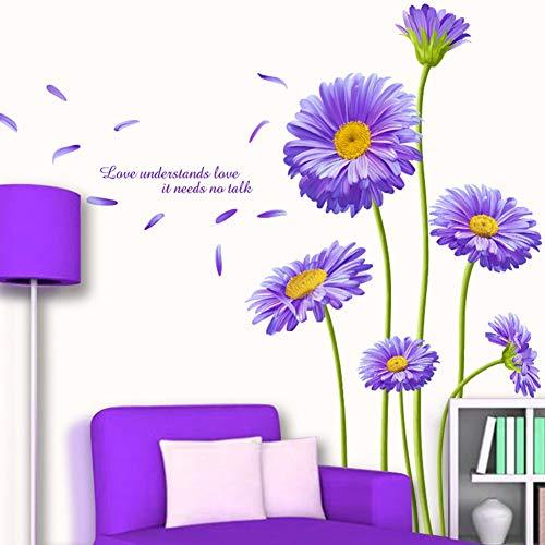 Adesivi murali Gerbera adesivi murali fiori viola adesivi murali decorazione parete camera soggiorno corridoio